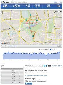 RunKeeper Screenshot von meinem Lauf